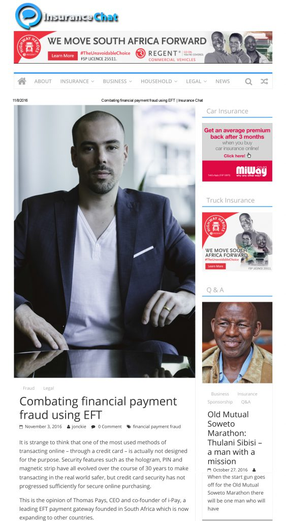 Combating financial payment fraud using EFT _ Insurance Chat